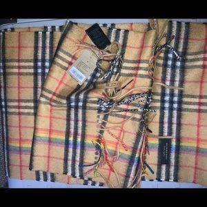 NWT Burberry rainbow check scarf